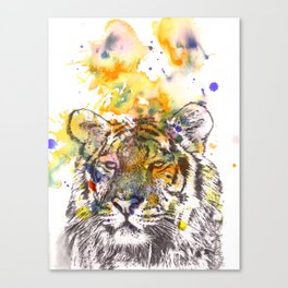 Portrait of a Tiger Painting Canvas Print