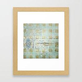 carnet de chèques Framed Art Print