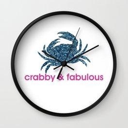 Crabby & fabulous Wall Clock