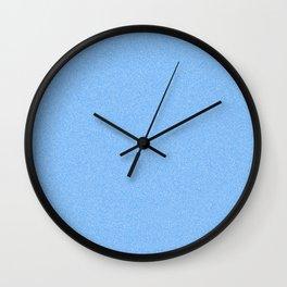 Dense Melange - White and Dodger Blue Wall Clock