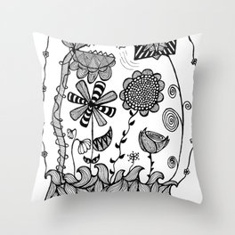 Trapped in my Garden Throw Pillow