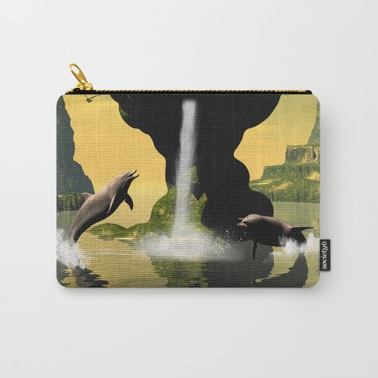 Funny jumping dolphins Carry-All Pouch
