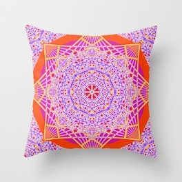 Temple Bell Vibrations Throw Pillow