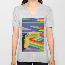 Toucan Rainbows Unisex V-Neck
