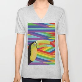 Toucan Rainbows Unisex V-Neck