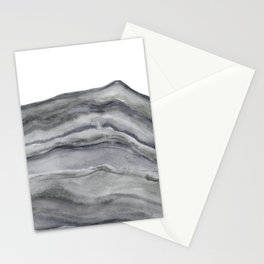 Watercolor Agate in Gray Stationery Cards