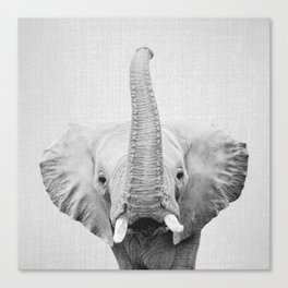 Elephant 2 - Black & White Canvas Print