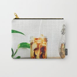 Coffee & Cream // Slow Milky Pour Over Cold Brew Caffeine in Mason Jar Plants & Owl Picture Carry-All Pouch