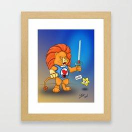 Braveheart Lion O Framed Art Print