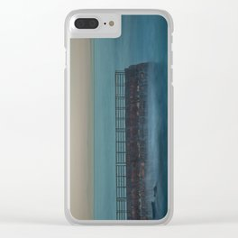 Seawall at Children's Pool Early in the Morning, La Jolla California Clear iPhone Case