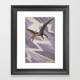 Pteranostorm - Superhero Dinosaurs Series Framed Art Print