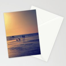 Walking by the sea Stationery Cards