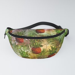 Pineapples - Tropical fruit watercolor illustration pattern Fanny Pack