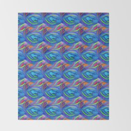 Colorful  blue scales Throw Blanket
