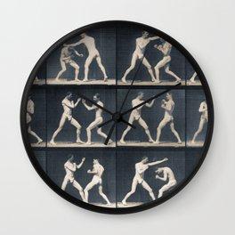 Time Lapse Motion Study Men Kick Boxing Wall Clock