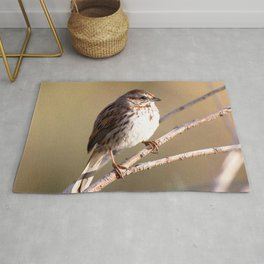 Watercolor Bird, Song Sparrow 03, Longmont, Colorado Rug