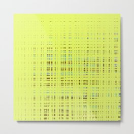 Multi-color squares on yellow background Metal Print