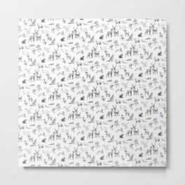 Animals pattern Metal Print