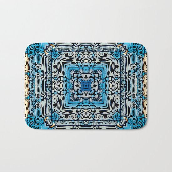 Tribal Hieroglyphics Bath Mat