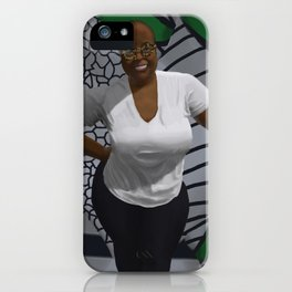 Black woman with curves iPhone Case