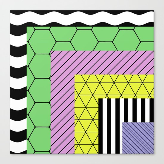 Go Bigger (Abstract, geometric, pastel designs) Canvas Print