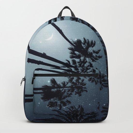 Palm Trees, Night Sky, Stars, Moon Backpack