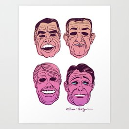 POINT BREAK SERIES - The Ex Presidents Art Print