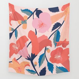 Trumpet Vine Wall Tapestry