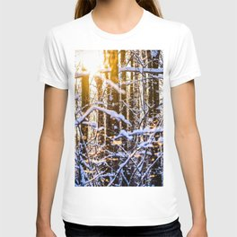 Sunset In The Winter Forest T-shirt