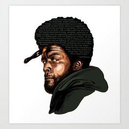 Questlove - Music Art Print