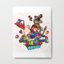 Super Mario Odyssey Metal Print