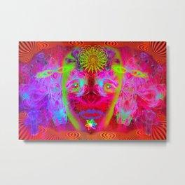 Psychedelic Sugar Skull (Halloween) Metal Print