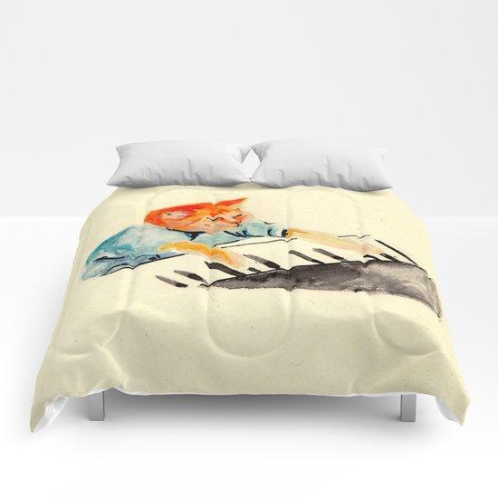 watercolour keyboard Comforters