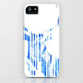 Geometric blue Stag iPhone Case