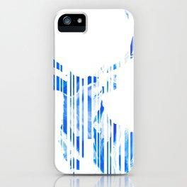 Geometric blue Stag iPhone Case