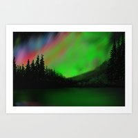 northern lights Art Prints featuring Northern Lights by Turul