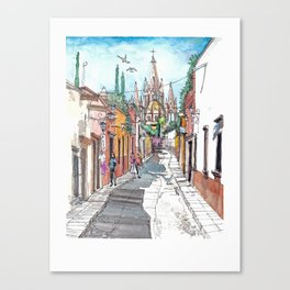 San Miguel Allende Street 1 Canvas Print