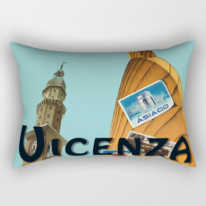 Vintage Vicenza Italy Travel Rectangular Pillow