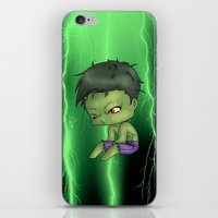 chibi iPhone & iPod Skins featuring Chibi Hulk by artwaste