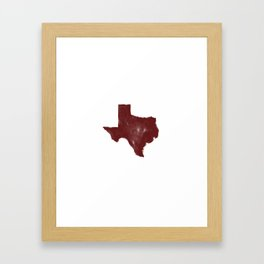 The Texas Are We - Shanna Framed Art Print