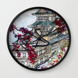 Japanese Castle Wall Clock