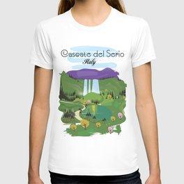 Cascate del Serio, Lombardia, italy, T-shirt