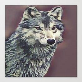 The Tundra Wolf Canvas Print