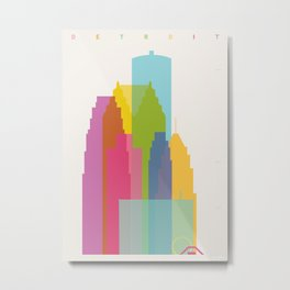Shapes of Detroit Metal Print