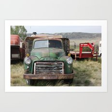 Truck still runs Art Print