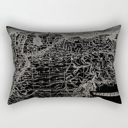Venezuela Antique Map Rectangular Pillow