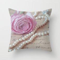 Pink Luxury Throw Pillow