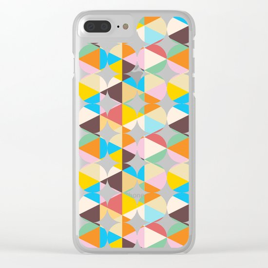Retro Geometry #society6 #decor #buyart Clear iPhone Case