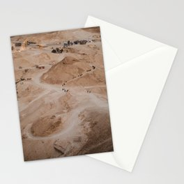 View From Above Hiking the Masada at Sunrise, Israel Stationery Cards
