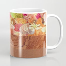 Layers Floral Wood Coffee Mug